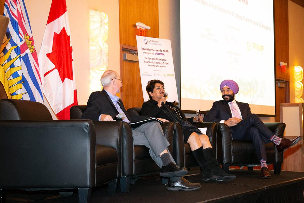 Karimah Es Sabar and Navdeep Singh Bains Minister of Innovation, Science and Economic Development
