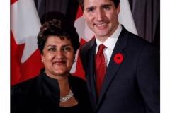 Karimah Es Sabar and Justin Trudeau